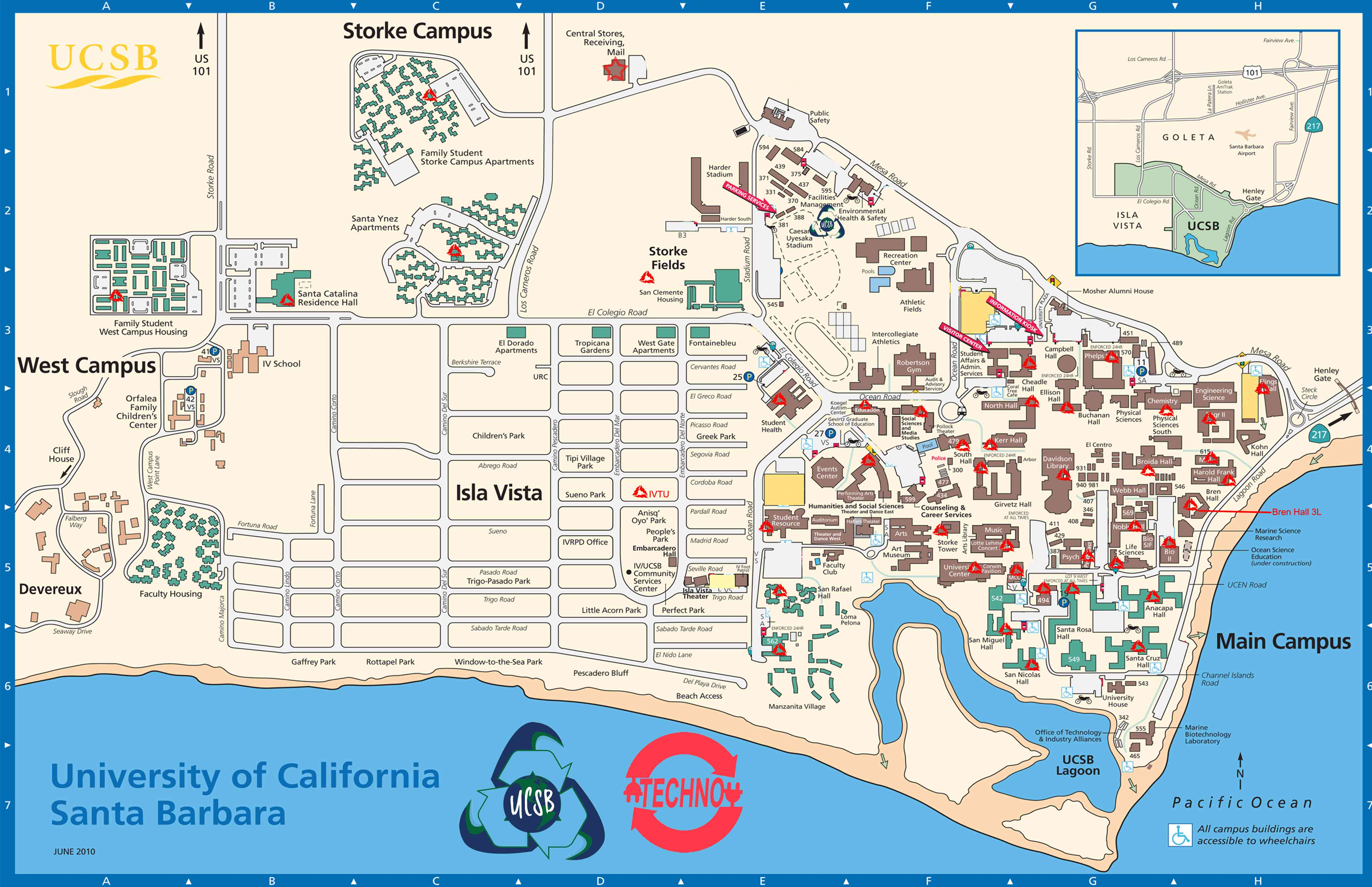 Map Of Ucsb UCSB Techno Map Website – AS Recycling Map Of Ucsb