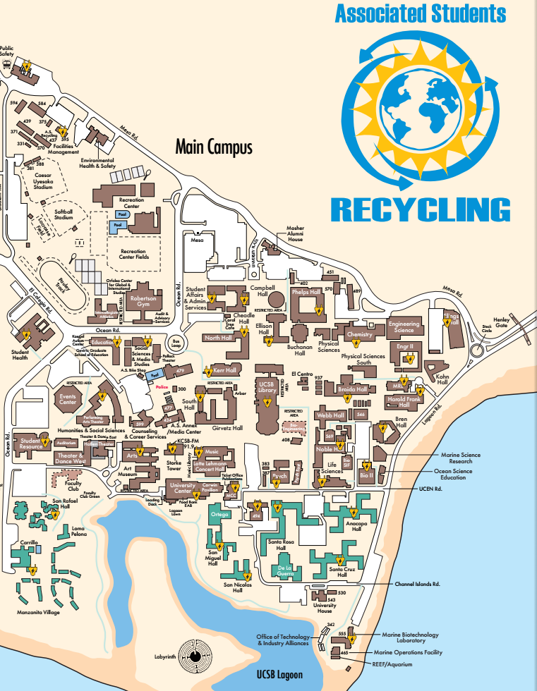 On-Campus E-Waste Drop Off Locations