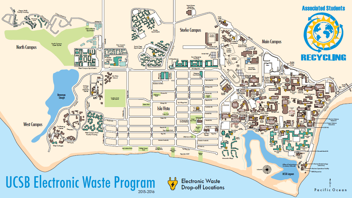 UCSB Electronic Waste Drop-Off Locations